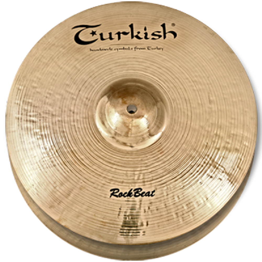 Turkish Cymbals Rock Series 13  Rock Beat Hi-Hat Flat Hole  RB-HF13
