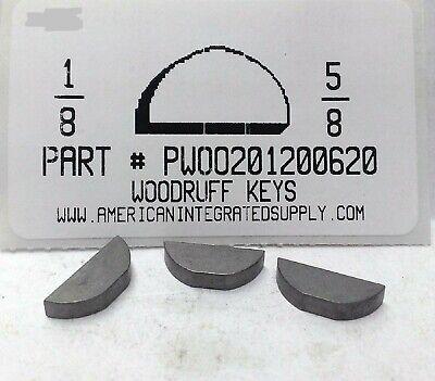 10 #9 3//16X3//4 WOODRUFF KEY STEEL PLAIN