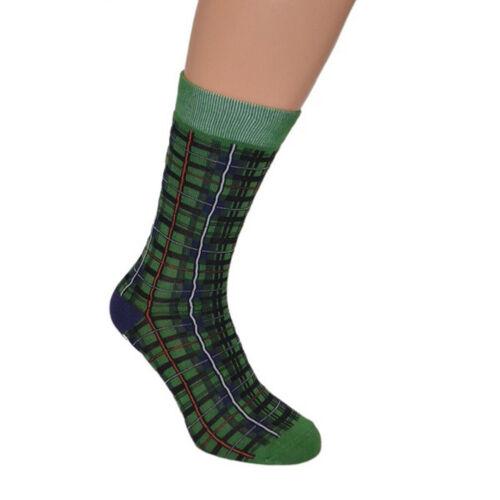 X6S174-LARGE Verde Mackenzie Tartan Scozzese Design in Tessuto Calzini UK 7.5-12