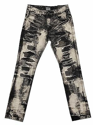 Smoke Rise Black Denim w/ Colored Distress