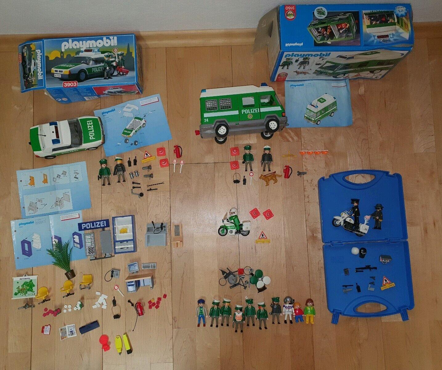 Playmobil Polizei Konvolut 3954,3160,3903,3983,5891 Station Fahrzeuge Figuren