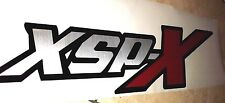 XSP-X sport 4x4 decal stickers, brushed chrome TOYOTA TUNDRA TACOMA (set)