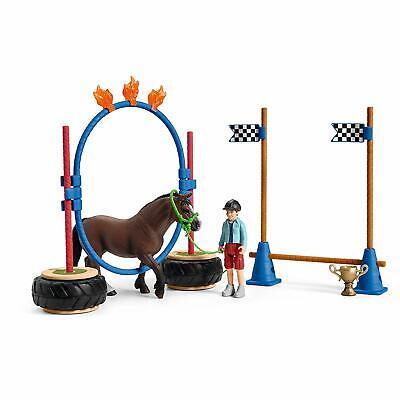Schleich 42482 Pony Agility Race Set Horse Toy Figurines 2019 NIP