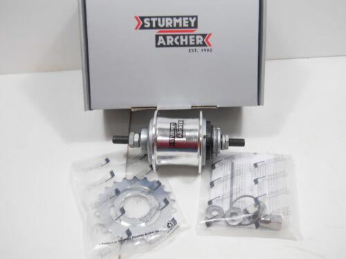 2 Speed Sturmey-Archer S2 Kick-Back-Shift Hub 32 Hole 120mm Free Wheel NIB