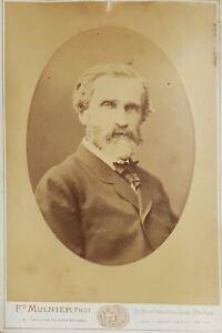 Fotografia originale albumina di Giuseppe Verdi - 1870 ca. fotografo Mulnier