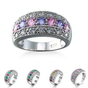 Multi-Color-Turmalin-Edelstein-Art-Und-Kupfer-Ring-Groesse-6-7-8-9-10-C7W9