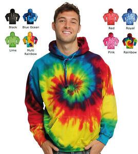 Colortone-Tie-Dye-Hoodie-Sweater-Jumper-S-2XL-TD04-TD31-TD30-Retro-Festival