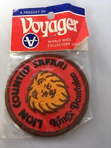 Vintage-Lion-Country-Safari-Kings-Dominion-Voyager-Patch-New-in-Package-Voyager