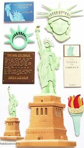 EK-SUCCESS-JOLEES-BOUTIQUE-3-D-STICKERS-AMERICA-USA-STATUE-OF-LIBERTY