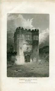 Gateway-To-Shute-House-Engraved-By-W-G-Cooke-Of-A-Drawing-Of-J-S-Cotman-Water