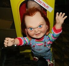 "MEZCO CHILD'S PLAY 15"" TALKING MEGA SCALE 'GOOD GUY' CHUCKY DOLL FIGURE w/ SOUND"