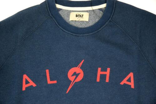 Lightning bolt Surf Sweat à encolure ras-du-cou Aloha Bleu Insigne Bolt Surf