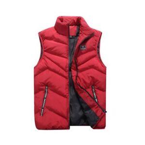 Fashion-Men-039-s-Winter-Warm-Puffer-Vest-Waistcoat-Quilted-Jacket-Sleeveless-Coat