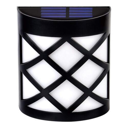 2-12X LED Solar Power LED Wall HELLSecurity Waterproof Deck GARTEN OUTDOOR IP55