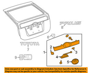 Genuine Toyota 76801-47060-B0 Door Garnish Sub Assembly