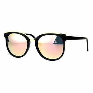 Womens Fashion Sunglasses Double Frame Gold Top Stylish Shades UV 400