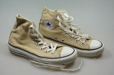 100% Vero Converse All Star Chucks Alta Marrone Unisex Dimensione 36 Kids (75)-mostra Il Titolo Originale