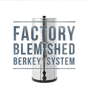 Travel Berkey Water Filter w/ 2 Black Berkey Purifiers - Factory Blemished - NEW