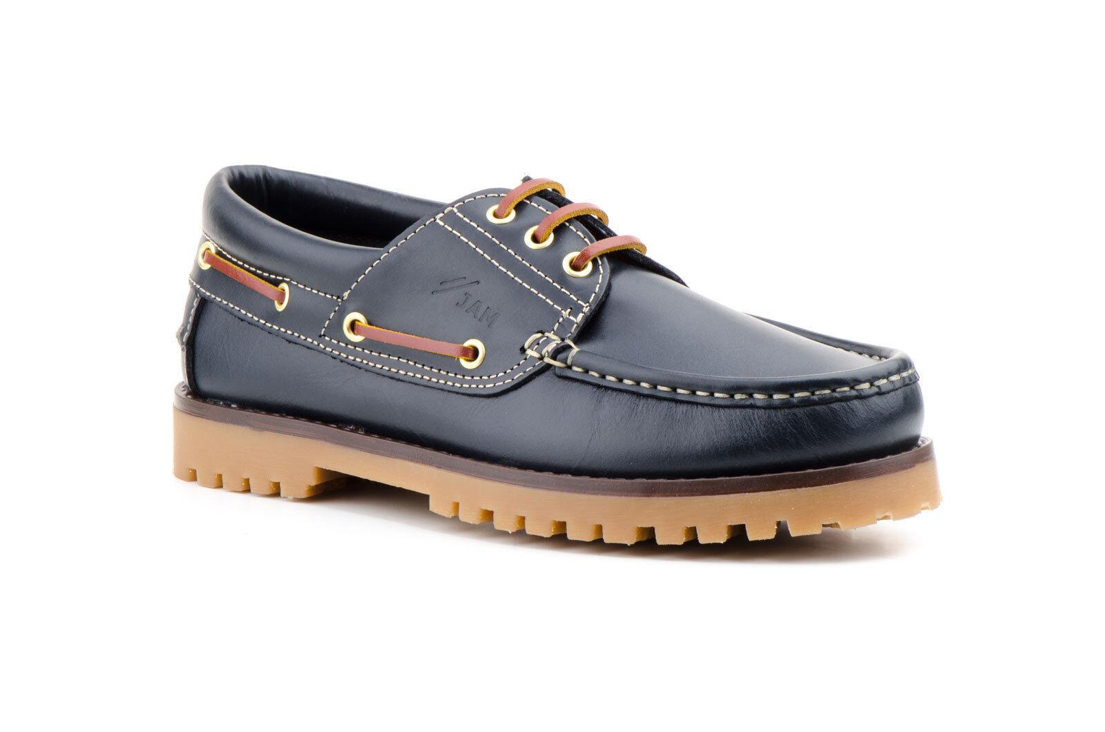 Herren Schuhe DECKSCHUHE Echtleder Segelschuhe Braun SPANIEN