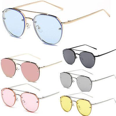 Oversized Designer Vintage Shades Sunglasses Women's Eyewear Retro Clear Summer