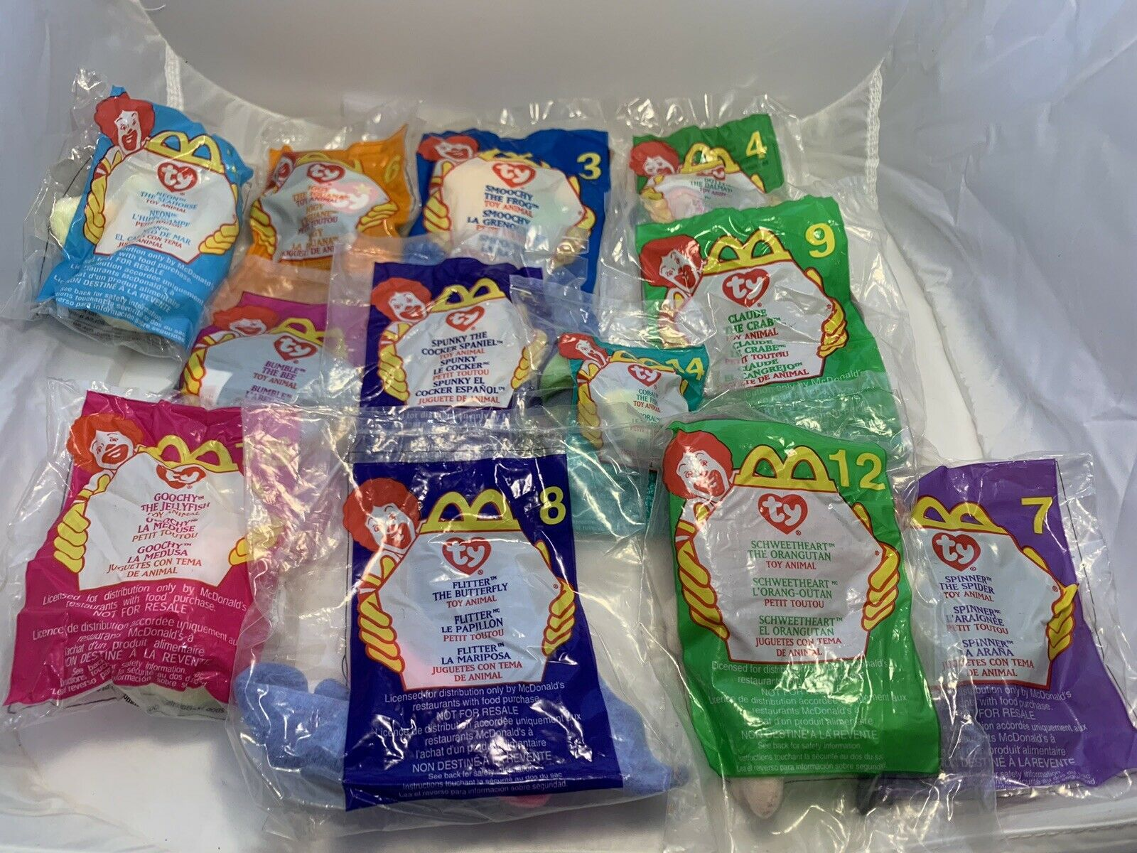 TY McDonalds 16Piece Beanie Babies In Original Sealed Bags and Opened