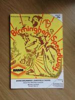 Birmingham V Sheffield Speedway Programme 02/04/79