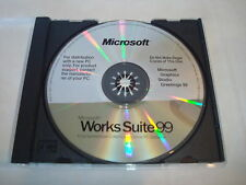Works Suite 99 - Microsoft CD Disc - Software for PC - Setup