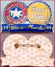 "Herrington Teddy Bear Club 1999 Charter Member ""SHOP at HOME"" PIN Mint New!"