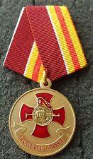 RUSSIAN  MEDAL   Spetsnaz red beret  cross fist kalashnikov