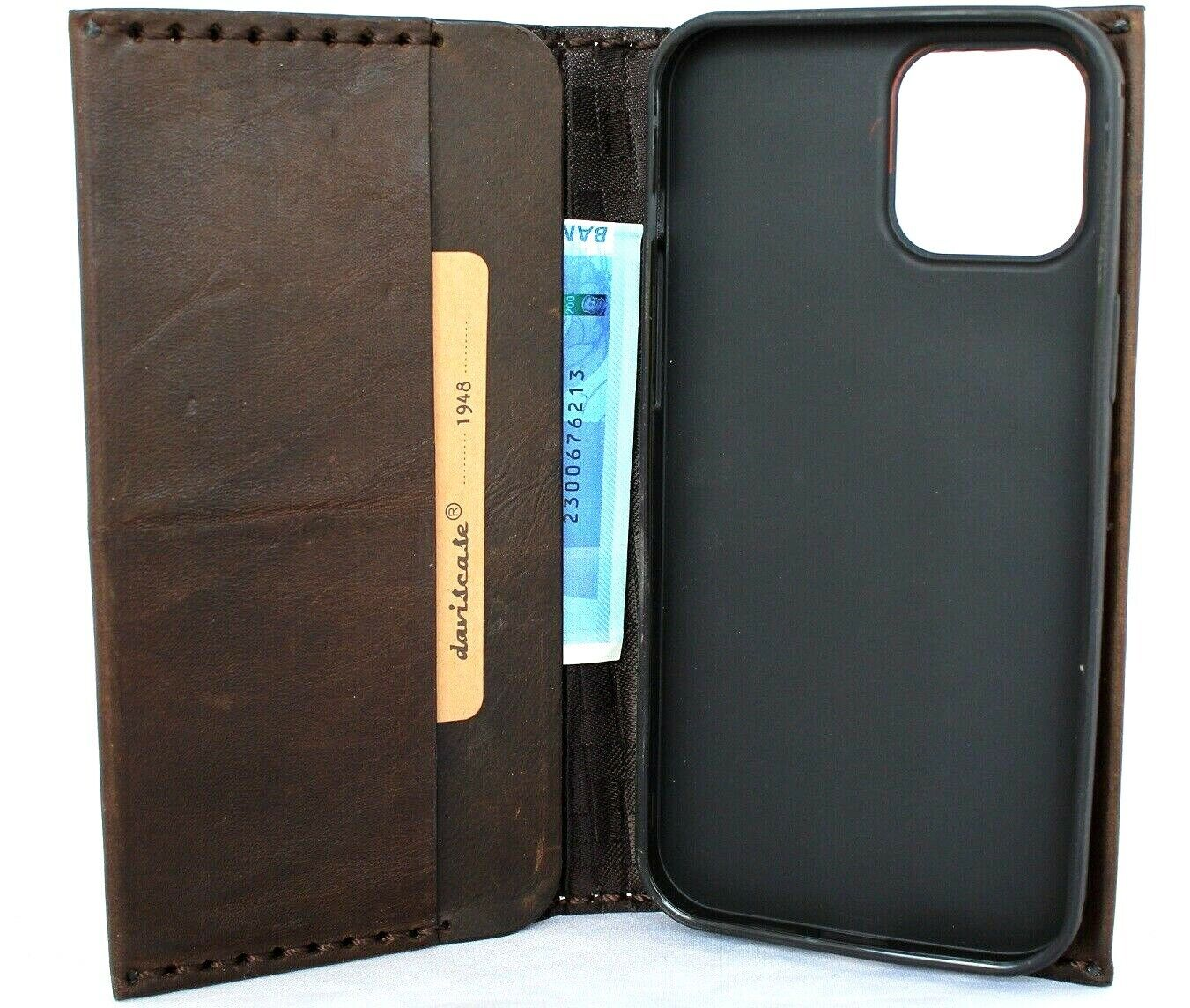 Image 91 - Genuine Full Grain Leather Case For Apple iPhone 11 Pro Max Wallet Cover Book Au