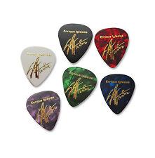 ENRIQUE IGLESIAS full set of 6 signature stamped printed plectrum guitar picks