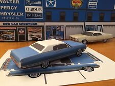 "Papercraft 1972 Chrysler New Yorker 2 door coupe ""Paper"" Toy Car E Z U-build"