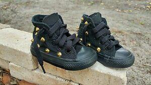 0119950d3e77e2 Converse Chuck Taylor All Star Classic BLACK GOLD STUDDED Hi Top ...