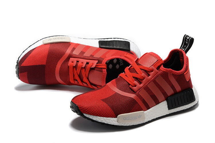 a03109ce139 Adidas NMD R1 Red Geometric Camo S79164 Mens Running shoes US Size  100%AUTHENTIC