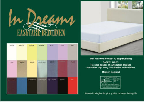 """Shorty bed 2/'6/""""x 5/'9/"""" 75 x 175 fitted sheet 10/"""" box 50//50 polycotton 21 colours"""