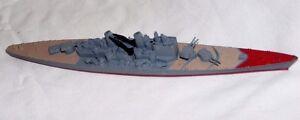 VINTAGE TRI-ANG MINIC DIE CAST M741 HMS VANGUARD BATTLESHIP / BOAT 1:1200 HORNBY