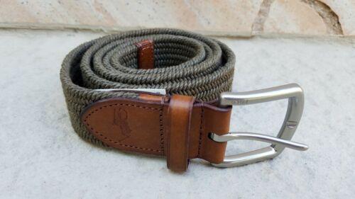 POLO RALPH LAUREN Men/'s Small Medium XLarge Olive Green Belt Nickel Buckle $75