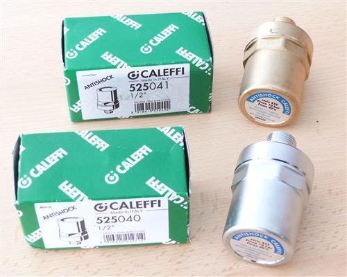 """Caleffi Antishock Wasserschlagdämpfer 1//2/""""AG Messing blank oder Messing verchrom"""