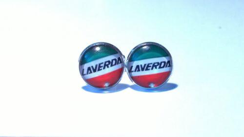 Laverda con el logotipo estilo Italiano Clásico Motos Gemelos