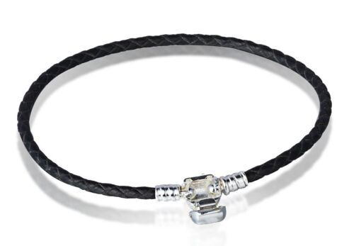 Snake Chain Bracelets Bangle Buckle with Logo Fit European 925 Silver Bead Charm