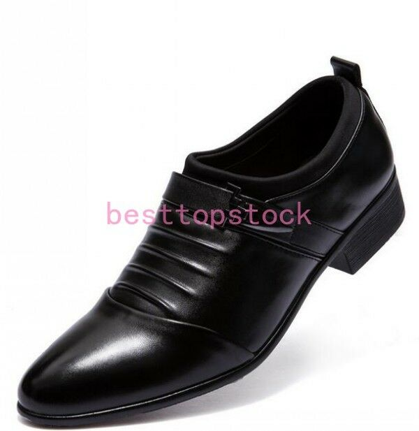 Stylish Mens Business shoes Low Top Pointy Toe Slip On Formal Dress Work Boots