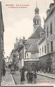 CPA-21-BEAUNE-rue-de-lorraine-et-Eglise-de-la-charite
