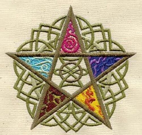 PAGAN FIVE ELEMENTS SET OF 2 BATH HAND TOWELS EMBROIDERED by laura