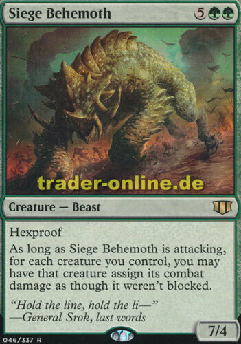 Belagerungsbehemoth Siege Behemoth Commander 2014 Magic