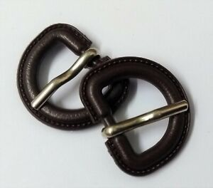 Genuine-British-Military-3-4-034-Stable-Belt-Bound-D-Ring-Prong-Buckle-1-Pair-STD36