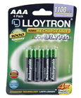 Value Lloytron AAA Rechargeable Batteries High Capacity 1100 mAh Pack of 4