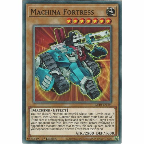 SR10-EN004 Machina Fortress1st Edition CommonYuGiOh Trading Card Game TCG