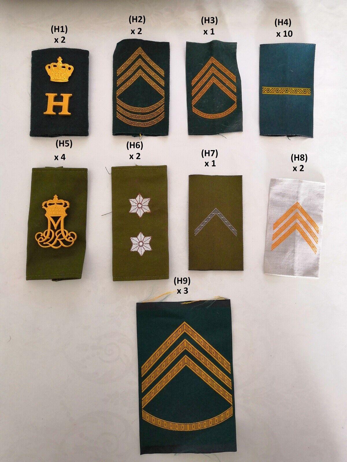 Militær, Uniformsmærker