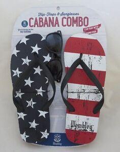 0815b2db2ba Men s WEMBLEY XL Stars   Stripes FLAG Flip Flops 4th of July FREE ...
