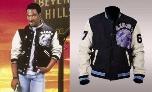 Vintage Hills Foley Beverly Detroit Lions Letterman Sport Axel Cop Giacca 50Znx5